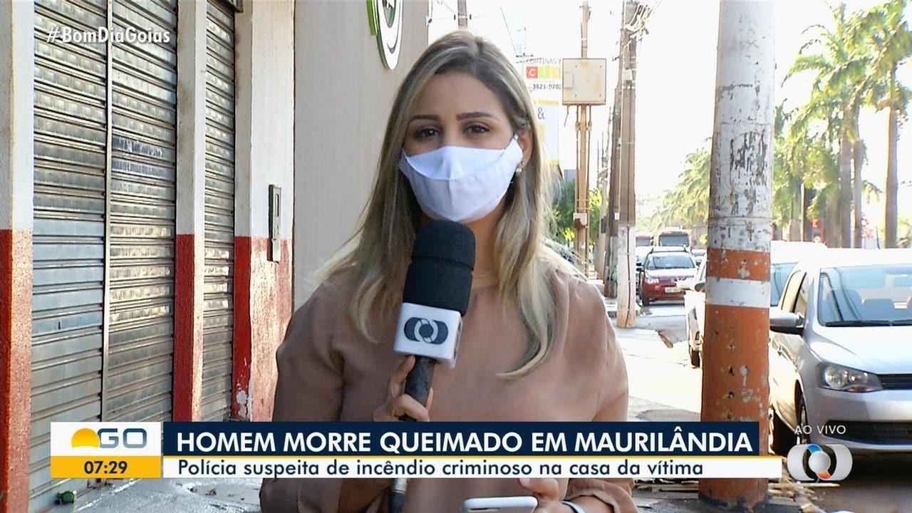 Homem morre queimado em incêndio dentro de casa, em Maurilândia