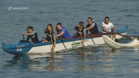 Atletas da região roubam a cena no Campeonato Brasileiro de canoa havaiana