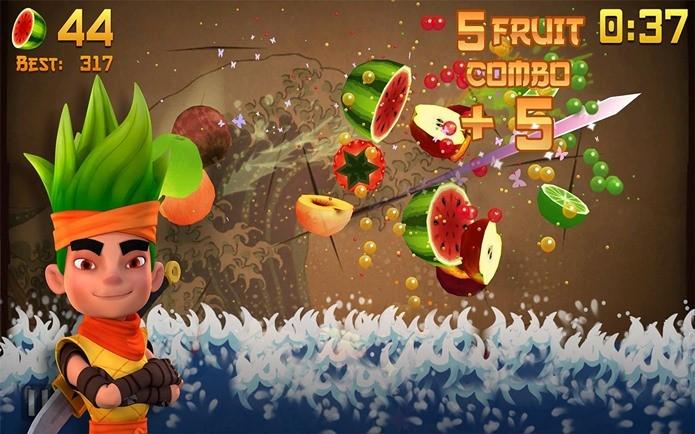 Atualização de Fruit Ninja traz novos personagens e power-ups (Foto: Divulgação)