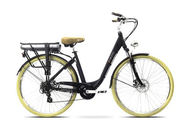 Bicicleta elétrica | Nessa pegada sustentável, a bicicleta elétrica pode ser um presentão de Dia dos Pais. O modelo amarelo acima ainda é cheio de estilo para os pais modernos e atléticos | Da Tito Bikes, R$599,99. (Foto: Divulgação)