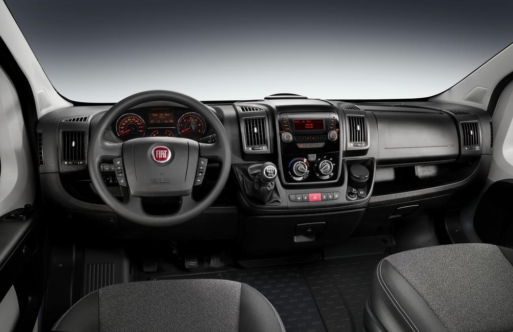 Interior da nova Fiat Ducato (Foto: Divulgação)