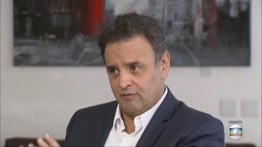 Aécio defende que PSDB tome uma decisão sobre presidência do partido