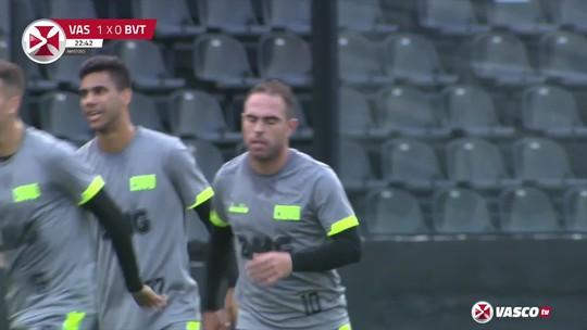 Com mudanças e dois gols de Bruno Cesar, Vasco vence o Boavista por 3 a 0 em jogo-treino