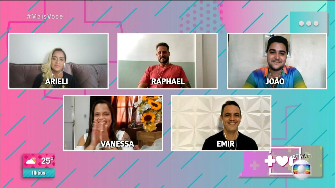 Ana Maria Braga conversa com os participantes do 'Jogo de Panelas Rio de Janeiro'