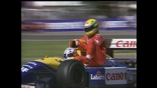 A inesquecível carona de Mansell a Senna após a vitória em Silverstone