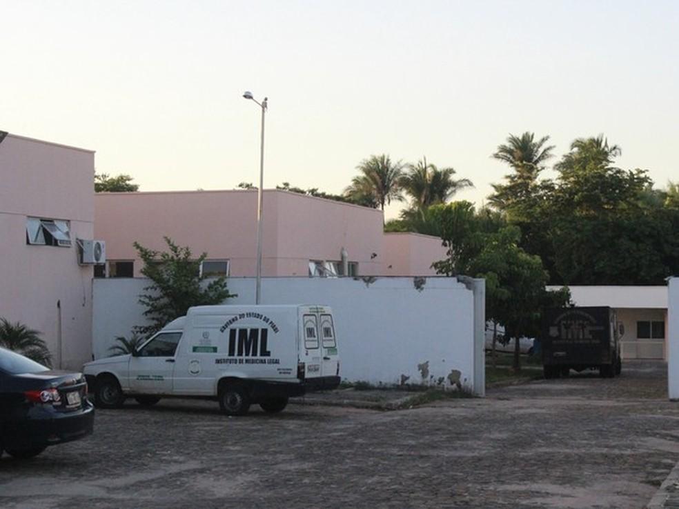 IML de Teresina recebeu o corpo da última criança morta e emitirá laudo cadavérico (Foto: Catarina Costa/G1)