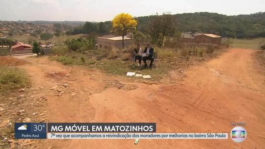 MG Móvel acompanha, pela 7ª vez, reivindicação dos moradores de Matozinhos