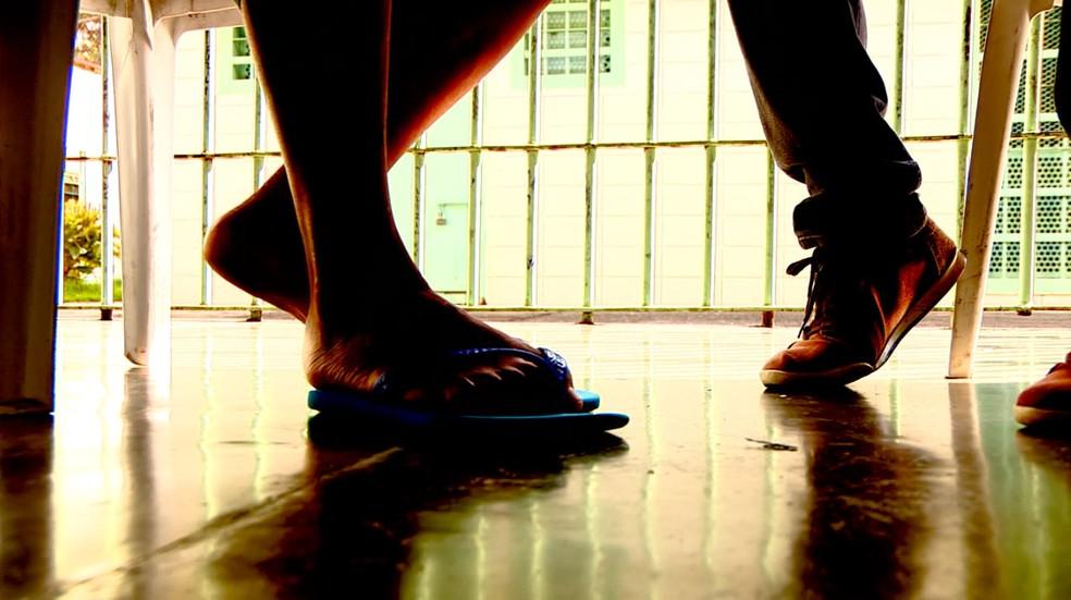 Adolescentes internados em unidade da Fundação Casa de Campinas (SP) — Foto: Reprodução/EPTV