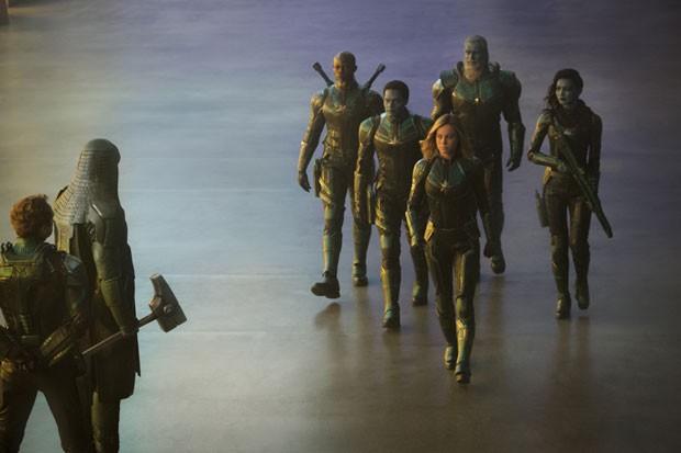Cena de Capitã Marvel (Foto: Chuck Zlotnick/Marvel Studios 2019/Divulgação Disney)