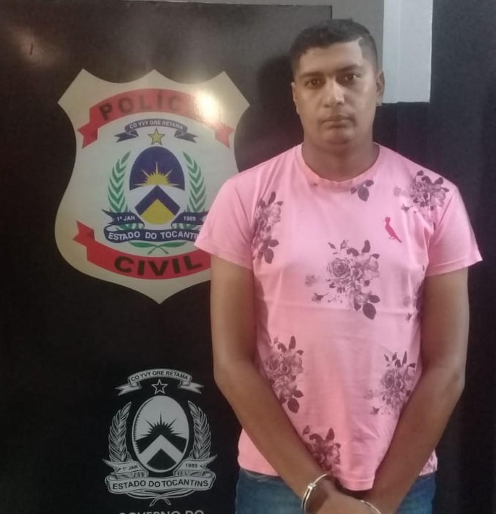 Suspeito de matar jovem em Araguaína foi preso seis meses após crime (Foto: Divulgação/Polícia Civil )