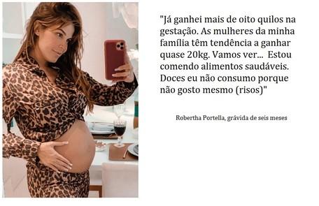Robertha Portella está grávida do empresário Bruno Coimbra Reprodução