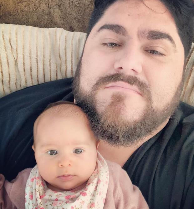 Cesar Menotti com a filha Maitê (Foto: Reprodução Instagram)