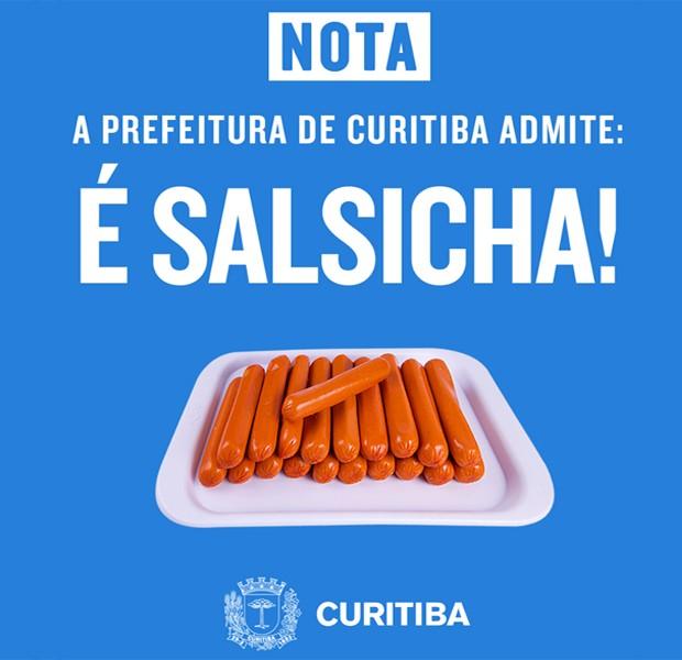 """Vina virou salsicha na """"zoeira"""" da Prefeitura de Curitiba (Foto: Divulgação)"""