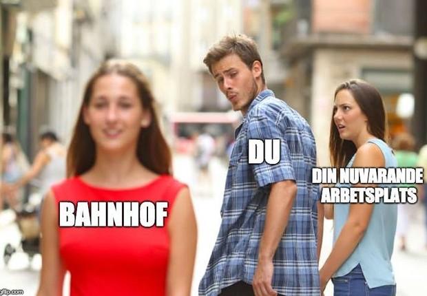 Meme foi utilizado em post da Bahnhof no Facebook (Foto: Reprodução/Facebook/Bahnhof)