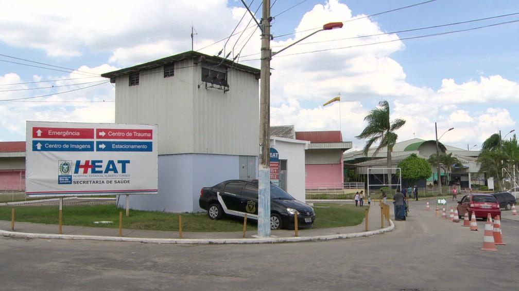 Fotografia da fachada do Hospital Estadual Alberto Torres, em São Gonçalo, em dezembro de 2017 — Foto: Reprodução/ TV Globo