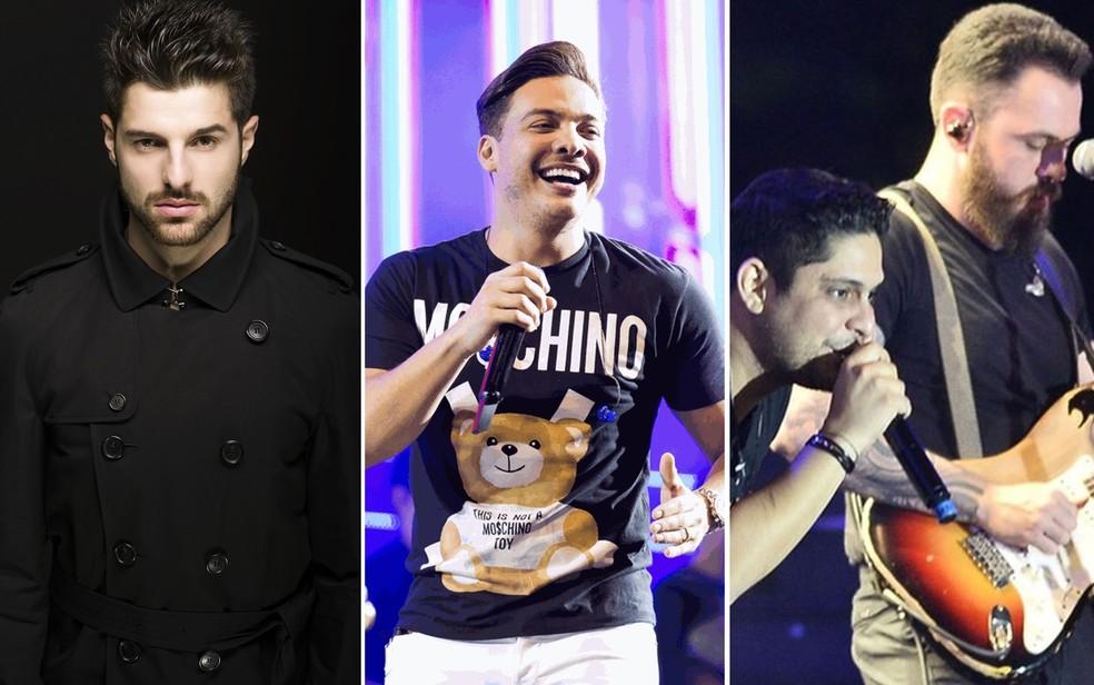 Alok, Wesley Safadão e Jorge e Mateus estão entre os artistas que se apresentam no Caldas Country — Foto: Divulgação