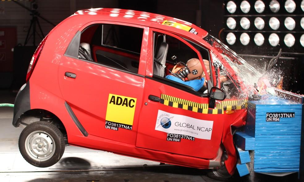 Tata Nano foi reprovado pela Global NCap (Foto: Divulgação)