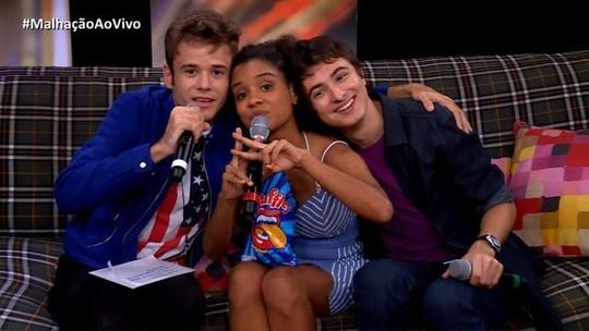 Trio fala sobre amizade e bastidores no 'Malhação Ao Vivo'
