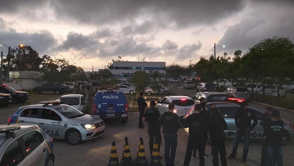 Operações 'Contrapasso' e 'Fogo Grego' são realizadas pela Polícia Civil em Caruaru — Foto: Polícia Civil/Divulgação