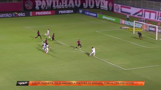 Gol de Lucas Paquetá é eleito a pintura da rodada do Brasileirão