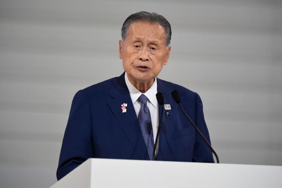 Yoshiro Mori é presidente do Comitê Organizador da Olimpíada de Tóquio 2020 — Foto: Matt Roberts/Getty Images