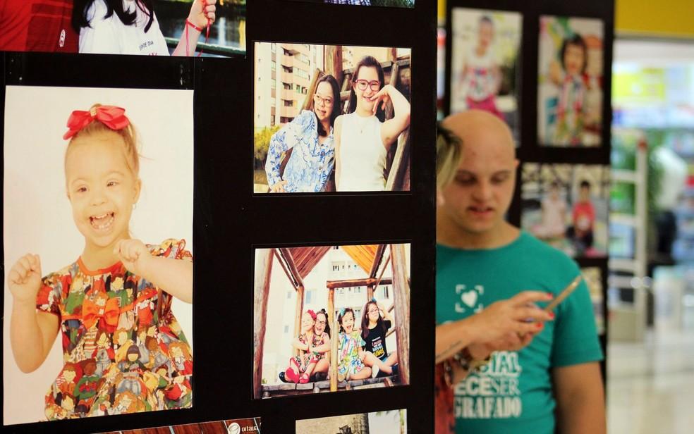 Exposição sobre pessoas com síndrome de down em Aracaju (SE) (Foto: Assessoria de Imprensa)