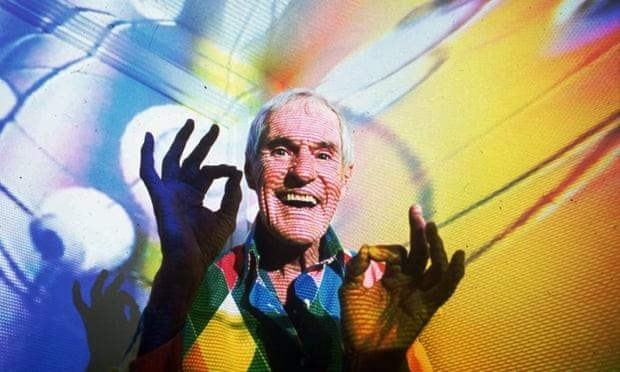 O psicólogo Timothy Leary em imagem de 1992