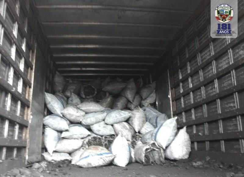 Dono de caminhão é preso com carga de 3,4 toneladas de carvão ilegal, em Manaus - Noticias