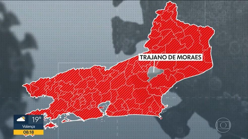 Trajano de Moraes é a única cidade do Rio de Janeiro sem casos de Covid-19 — Foto: Reprodução/TV Globo