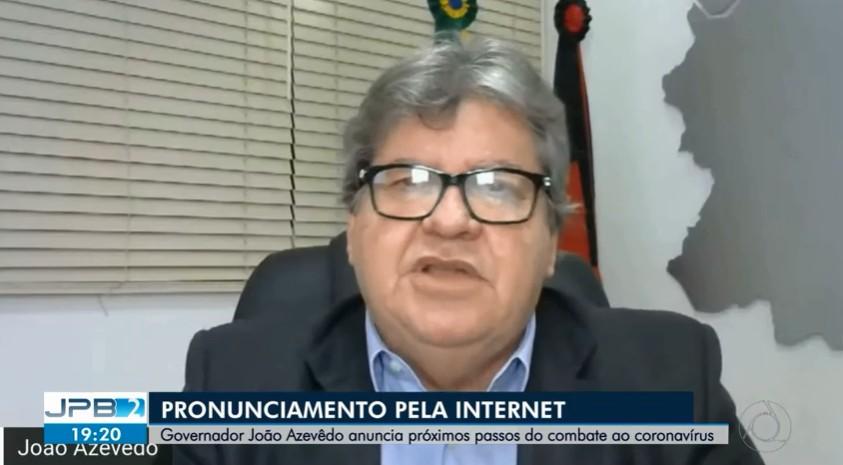 Governador da Paraíba anuncia próximas ações de combate ao novo coronavírus