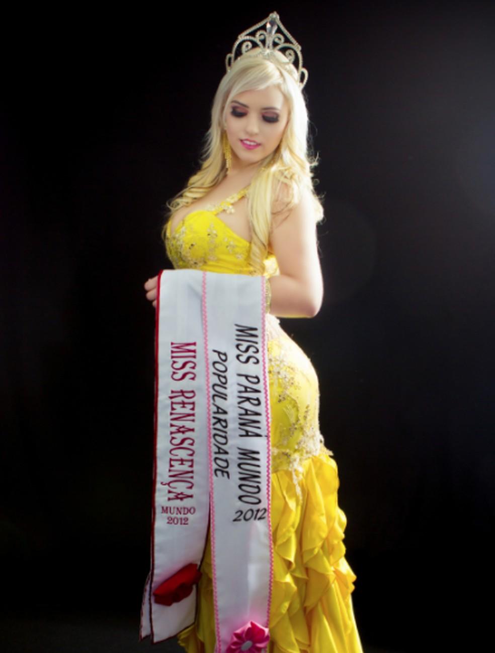 Miss Renascença, Lauren Adana, é natural de Pato Branco — Foto: Divulgação
