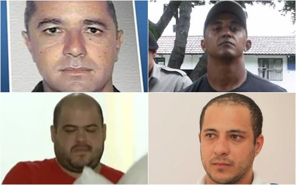 Acusados de matar o jornalista Valério Luiz, em Goiânia — Foto: Montagem/ G1