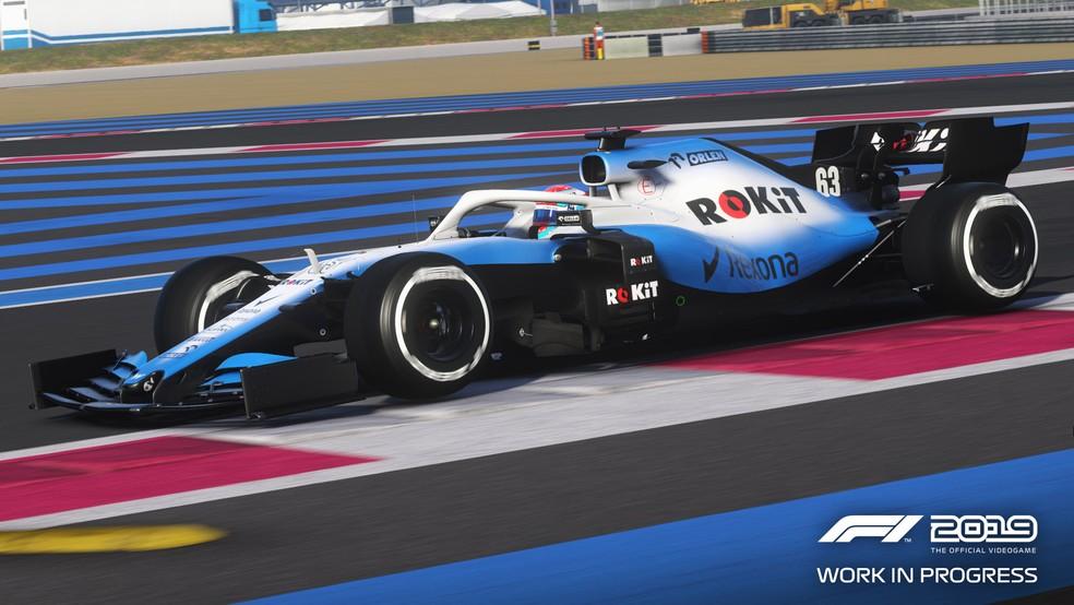 Carro da Williams no F1 2019 — Foto: Divulgação / F1 2019