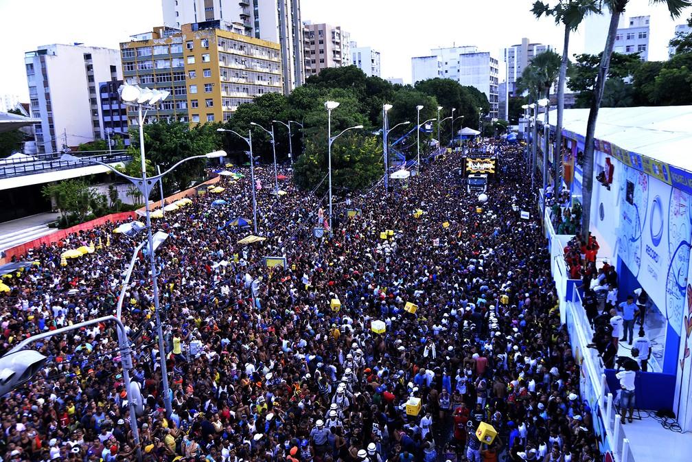 Multião de foliões no Campo Grande — Foto: Sérgio Pedreira/Ag. Haack