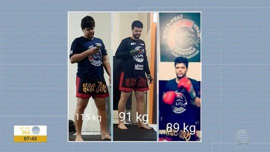 Professor soca o desânimo, pratica esporte no início da madrugada e emagrece 23kg com dieta simples