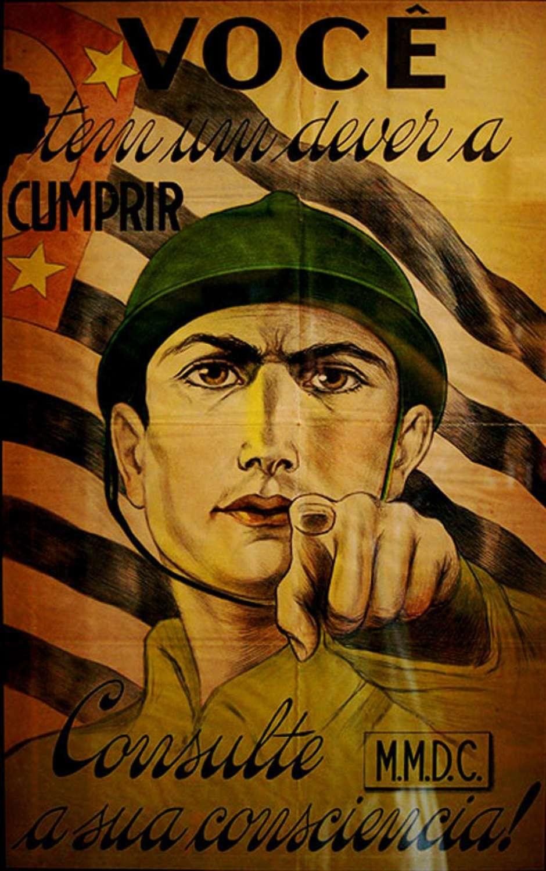 Cartaz paulista de 1932 (Foto: Reprodução)