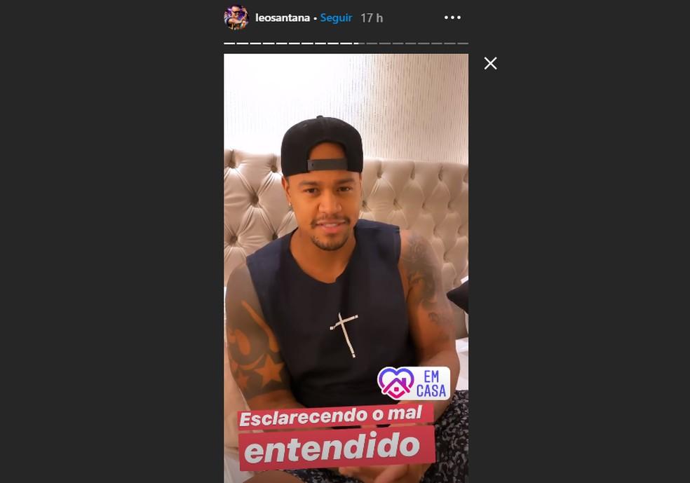 Após anunciar live, Léo Santana é criticado e pede desculpas — Foto: Reprodução/Instagram