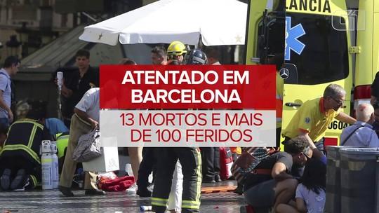 Ataque terrorista deixa mortos e feridos em Barcelona