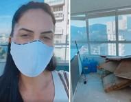 """Graciele Lacerda mostra obra e vista de triplex em São Paulo: """"Vou ter um closet pela primeira vez"""""""