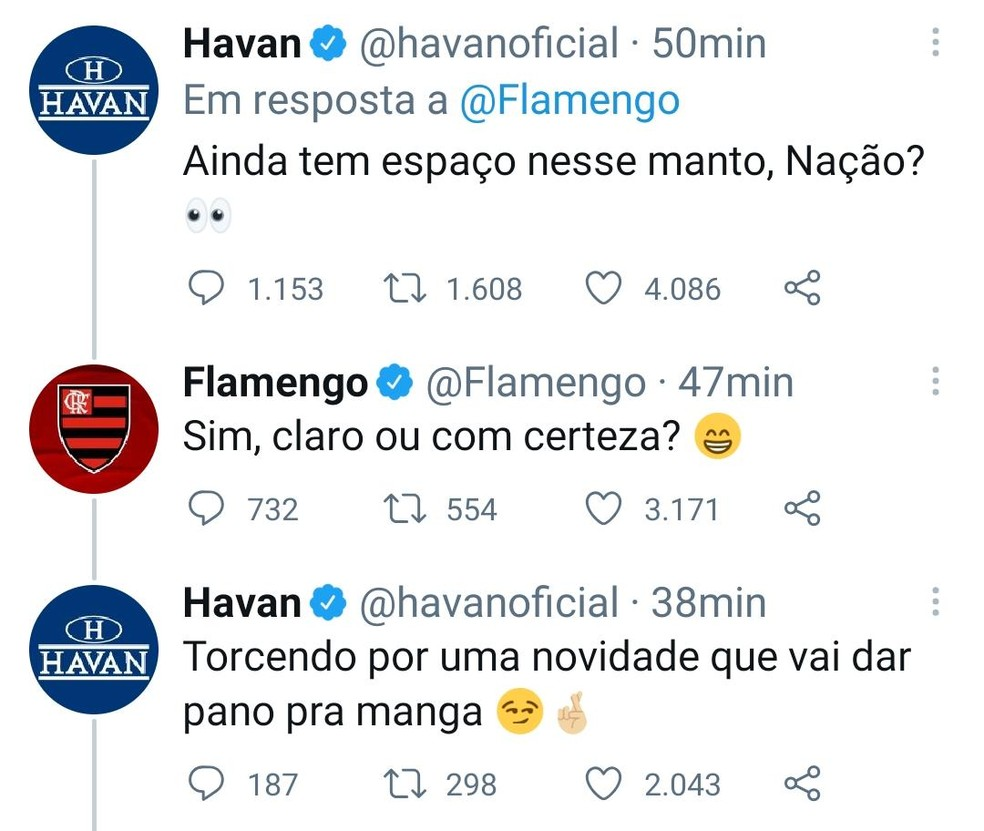 Flamengo Havan — Foto: Reprodução