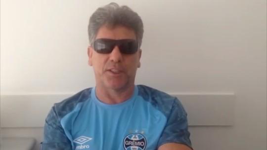Renato Gaúcho presta homenagem ao ex-pupilo que se aposenta neste sábado