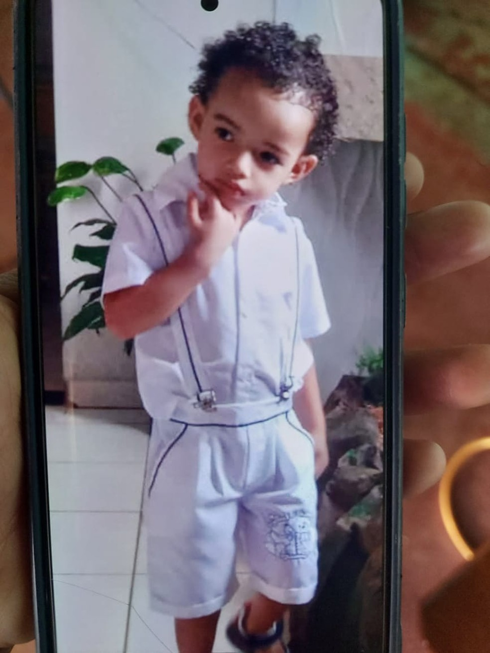 Heitor Maciel dos Santos, de 2 anos, desapareceu em Lucas do Rio Verde — Foto: Arquivo pessoal