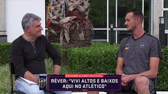 """""""1 x 1"""" com Cléber Machado: Réver classifica volta ao Atlético como fantástica"""