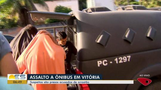 Suspeitos de assalto a ônibus são presos em Vitória