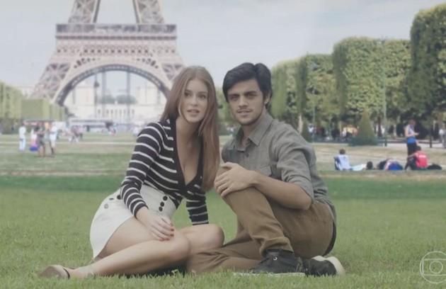 Na sexta-feira (9), Eliza e Jonatas viajam juntos para Paris e Arthur (Fabio Assunção) decide ficar no Brasil com Carolina (Foto: TV Globo)