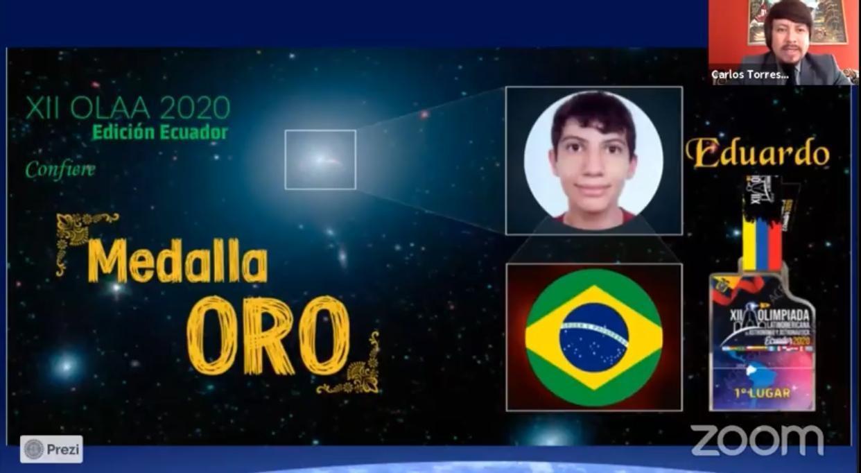 Estudante de Valinhos vence Olimpíada Latino-Americana de Astronomia e Astronáutica