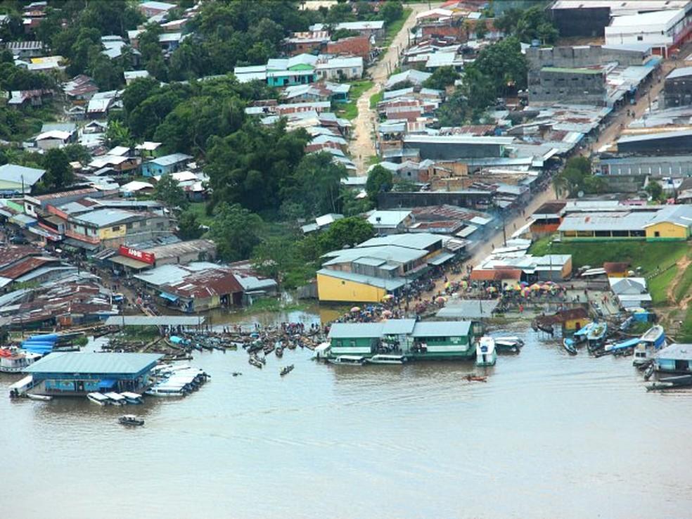 Área do porto de Tabatinga — Foto: Adneison Severiano/G1 AM