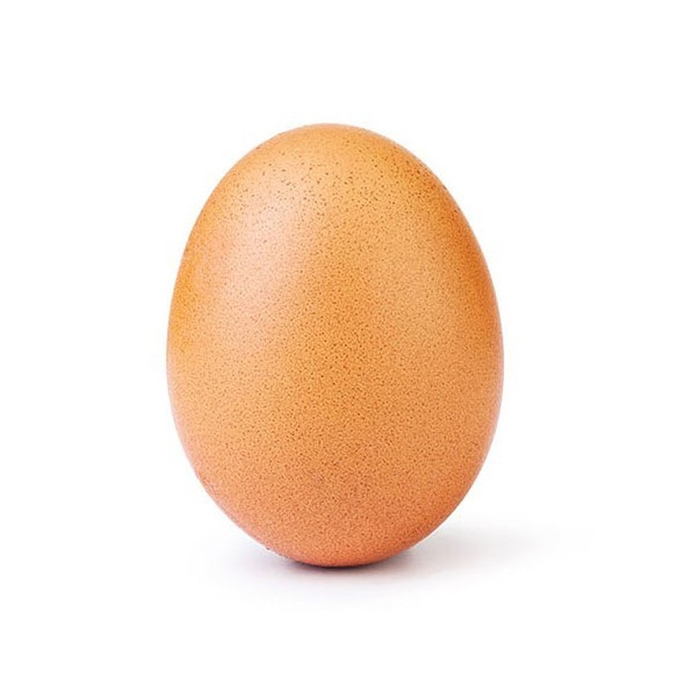 Imagem de ovo é a foto mais curtida no Instagram e já conta com mais de 25 milhões de likes — Foto: Reprodução/Instagram