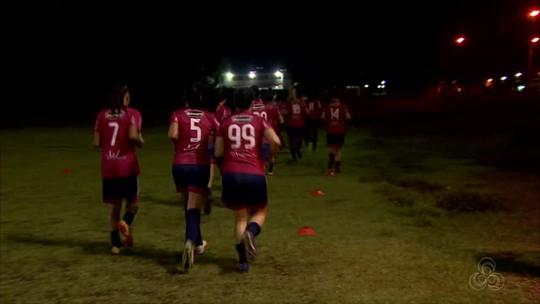 Equipe feminina do Porto Velho realiza treino antes de enfrentar o Pinheirense-PA; Veja vídeo
