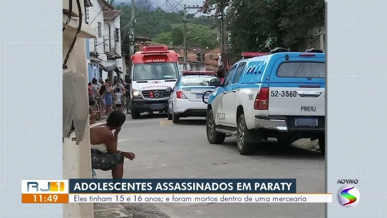 Adolescentes são mortos a tiros dentro de mercearia em Paraty